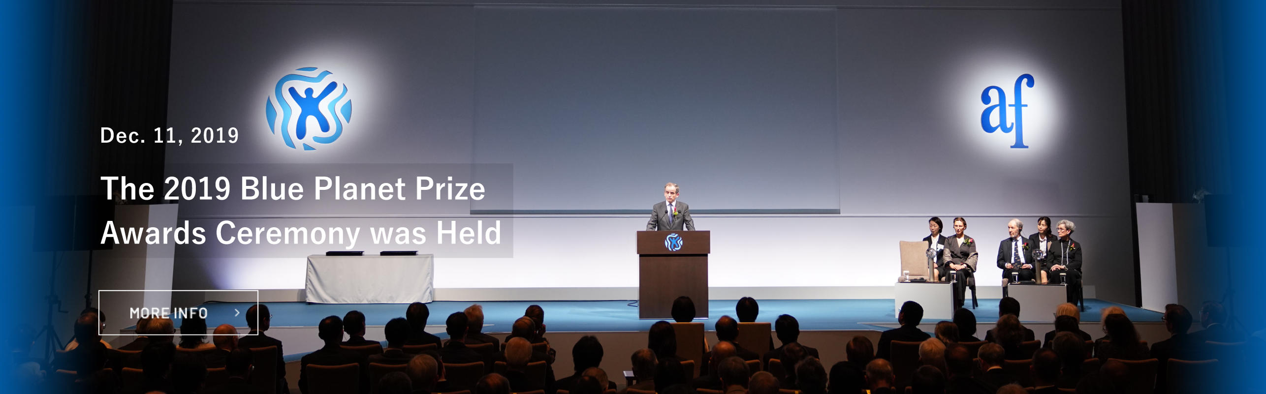 2019 Blue Planet Prize Awards Ceremony was held